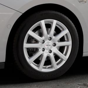 AUTEC Skandic Brillantsilber lackiert Felge mit Reifen in 16Zoll Winterfelge Alufelge auf silbernem Opel Astra K Typ B-K ⬇️ mit 15mm Tieferlegung ⬇️ Industriehalle 1 Thumbnail