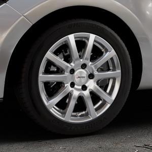 AUTEC Skandic Brillantsilber lackiert Felge mit Reifen in 16Zoll Winterfelge Alufelge auf silbernem Renault Clio IV Typ R ⬇️ mit 15mm Tieferlegung ⬇️ Industriehalle 1 Thumbnail