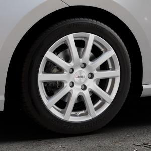 AUTEC Skandic Brillantsilber lackiert Felge mit Reifen in 16Zoll Winterfelge Alufelge auf silbernem Seat Ibiza V Typ KJ ⬇️ mit 15mm Tieferlegung ⬇️ Industriehalle 1 Thumbnail