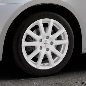 AUTEC Skandic Brillantsilber lackiert Felge mit Reifen in 16Zoll Winterfelge Alufelge auf silbernem Suzuki Swift V Typ NZ FZ ⬇️ mit 15mm Tieferlegung ⬇️ Industriehalle 1 Thumbnail