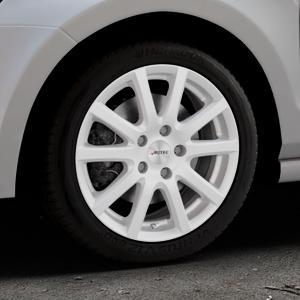 AUTEC Skandic Brillantsilber lackiert Felge mit Reifen in 16Zoll Winterfelge Alufelge auf silbernem Volkswagen (VW) Polo V Typ 6C 1,8l GTI 141kW (192 PS) ⬇️ mit 15mm Tieferlegung ⬇️ Industriehalle 1 Thumbnail