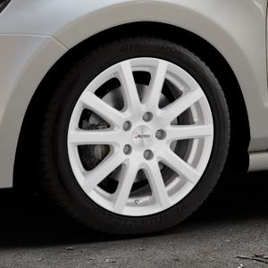 AUTEC Skandic Brillantsilber lackiert Felge mit Reifen in 16Zoll Winterfelge Alufelge auf silbernem Volkswagen (VW) Polo V Typ 6R ⬇️ mit 15mm Tieferlegung ⬇️ Industriehalle 1 Thumbnail