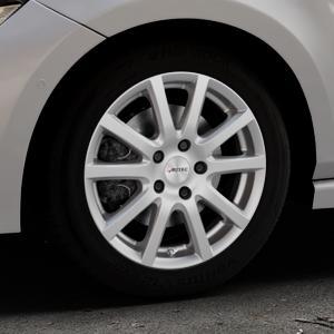 AUTEC Skandic Brillantsilber lackiert Felge mit Reifen in 16Zoll Winterfelge Alufelge auf silbernem Volkswagen (VW) Polo VI Typ AW ⬇️ mit 15mm Tieferlegung ⬇️ Industriehalle 1 Thumbnail