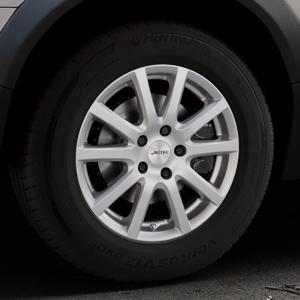 AUTEC Skandic Brillantsilber lackiert Felge mit Reifen in 16Zoll Winterfelge Alufelge auf silbernem Volvo XC70 II Typ B ⬇️ mit 15mm Tieferlegung ⬇️ Industriehalle 1 Thumbnail