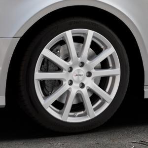 AUTEC Skandic Brillantsilber lackiert Felge mit Reifen in 17Zoll Winterfelge Alufelge auf silbernem Audi A3 Typ 8V (Limousine) Facelift ⬇️ mit 15mm Tieferlegung ⬇️ Industriehalle 1 Thumbnail