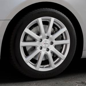 AUTEC Skandic Brillantsilber lackiert Felge mit Reifen in 17Zoll Winterfelge Alufelge auf silbernem Audi A5 Typ B9 (Coupé) (Cabriolet) ⬇️ mit 15mm Tieferlegung ⬇️ Industriehalle 1 Thumbnail
