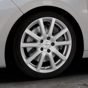 AUTEC Skandic Brillantsilber lackiert Felge mit Reifen in 17Zoll Winterfelge Alufelge auf silbernem Peugeot 208 Typ C ⬇️ mit 15mm Tieferlegung ⬇️ Industriehalle 1 Thumbnail