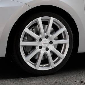 AUTEC Skandic Brillantsilber lackiert Felge mit Reifen in 17Zoll Winterfelge Alufelge auf silbernem Suzuki Swift VI Typ AZ ⬇️ mit 15mm Tieferlegung ⬇️ Industriehalle 1 Thumbnail