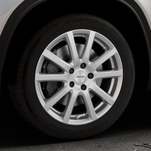 AUTEC Skandic Brillantsilber lackiert Felge mit Reifen in 17Zoll Winterfelge Alufelge auf silbernem Suzuki Vitara Typ LY ⬇️ mit 15mm Tieferlegung ⬇️ Industriehalle 1 Thumbnail