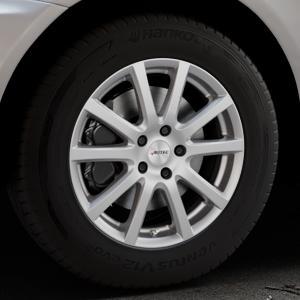 AUTEC Skandic Brillantsilber lackiert Felge mit Reifen in 17Zoll Winterfelge Alufelge auf silbernem Volvo XC60 Typ D ⬇️ mit 15mm Tieferlegung ⬇️ Industriehalle 1 Thumbnail