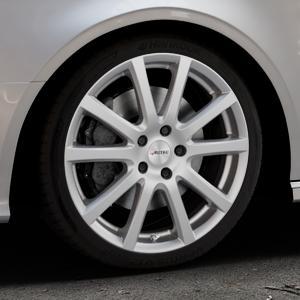 AUTEC Skandic Brillantsilber lackiert Felge mit Reifen in 18Zoll Winterfelge Alufelge auf silbernem Audi A3 Typ 8V (Cabriolet) ⬇️ mit 15mm Tieferlegung ⬇️ Industriehalle 1 Thumbnail