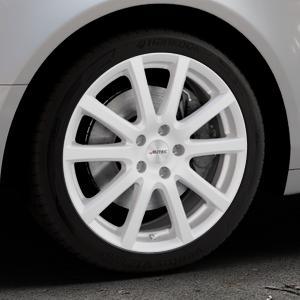AUTEC Skandic Brillantsilber lackiert Felge mit Reifen in 18Zoll Winterfelge Alufelge auf silbernem Audi A6 Typ 4F/C6 (Limousine) ⬇️ mit 15mm Tieferlegung ⬇️ Industriehalle 1 Thumbnail