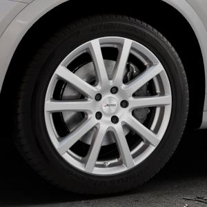 AUTEC Skandic Brillantsilber lackiert Felge mit Reifen in 18Zoll Winterfelge Alufelge auf silbernem BMW X4 Typ F26 (X3, X-N1) ⬇️ mit 15mm Tieferlegung ⬇️ Industriehalle 1 Thumbnail
