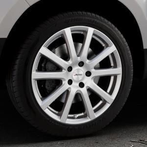 AUTEC Skandic Brillantsilber lackiert Felge mit Reifen in 18Zoll Winterfelge Alufelge auf silbernem Dacia Duster Typ SD ⬇️ mit 15mm Tieferlegung ⬇️ Industriehalle 1 Thumbnail