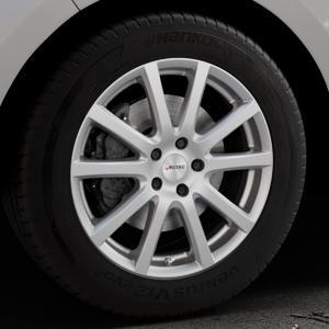 AUTEC Skandic Brillantsilber lackiert Felge mit Reifen in 18Zoll Winterfelge Alufelge auf silbernem Ford Edge Typ SBF ⬇️ mit 15mm Tieferlegung ⬇️ Industriehalle 1 Thumbnail