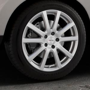 AUTEC Skandic Brillantsilber lackiert Felge mit Reifen in 18Zoll Winterfelge Alufelge auf silbernem Hyundai ix35 Typ EL ELH LM LMFC ⬇️ mit 15mm Tieferlegung ⬇️ Industriehalle 1 Thumbnail