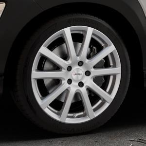 AUTEC Skandic Brillantsilber lackiert Felge mit Reifen in 18Zoll Winterfelge Alufelge auf silbernem Hyundai Kona Typ OS ⬇️ mit 15mm Tieferlegung ⬇️ Industriehalle 1 Thumbnail