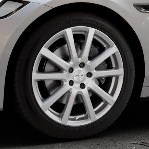 AUTEC Skandic Brillantsilber lackiert Felge mit Reifen in 18Zoll Winterfelge Alufelge auf silbernem Jaguar XF Sportbrake Typ JB ⬇️ mit 15mm Tieferlegung ⬇️ Industriehalle 1 Thumbnail