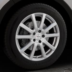 AUTEC Skandic Brillantsilber lackiert Felge mit Reifen in 18Zoll Winterfelge Alufelge auf silbernem Kia Sorento III Typ UM ⬇️ mit 15mm Tieferlegung ⬇️ Industriehalle 1 Thumbnail