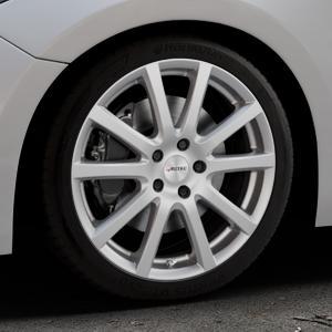 AUTEC Skandic Brillantsilber lackiert Felge mit Reifen in 18Zoll Winterfelge Alufelge auf silbernem Mazda 3 (13-) Stufenheck (BM) Sport (17-) Facelift Fließheck ⬇️ mit 15mm Tieferlegung ⬇️ Industriehalle 1 Thumbnail