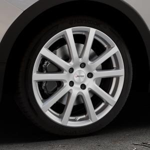 AUTEC Skandic Brillantsilber lackiert Felge mit Reifen in 18Zoll Winterfelge Alufelge auf silbernem Ssangyong Tivoli Typ XK ⬇️ mit 15mm Tieferlegung ⬇️ Industriehalle 1 Thumbnail