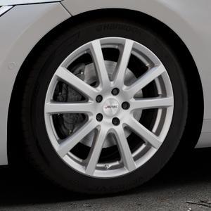 AUTEC Skandic Brillantsilber lackiert Felge mit Reifen in 18Zoll Winterfelge Alufelge auf silbernem Volkswagen (VW) Arteon Typ 3H ⬇️ mit 15mm Tieferlegung ⬇️ Industriehalle 1 Thumbnail