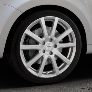AUTEC Skandic Brillantsilber lackiert Felge mit Reifen in 18Zoll Winterfelge Alufelge auf silbernem Volkswagen (VW) Sharan III Typ 7N (15->) ⬇️ mit 15mm Tieferlegung ⬇️ Industriehalle 1 Thumbnail