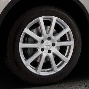 AUTEC Skandic Brillantsilber lackiert Felge mit Reifen in 18Zoll Winterfelge Alufelge auf silbernem Volkswagen (VW) Tiguan II Typ 5N Allspace ⬇️ mit 15mm Tieferlegung ⬇️ Industriehalle 1 Thumbnail