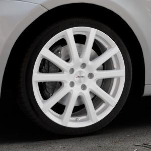 AUTEC Skandic Brillantsilber lackiert Felge mit Reifen in 18Zoll Winterfelge Alufelge auf silbernem Volkswagen (VW) Touran I Typ 1T II ⬇️ mit 15mm Tieferlegung ⬇️ Industriehalle 1 Thumbnail