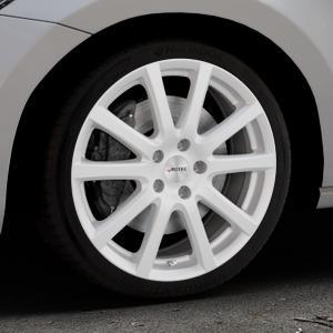 AUTEC Skandic Brillantsilber lackiert Felge mit Reifen in 18Zoll Winterfelge Alufelge auf silbernem Volkswagen (VW) Touran III Typ 1T (15->) ⬇️ mit 15mm Tieferlegung ⬇️ Industriehalle 1 Thumbnail
