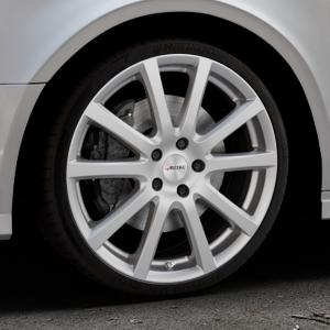 AUTEC Skandic Brillantsilber lackiert Felge mit Reifen in 19Zoll Winterfelge Alufelge auf silbernem Audi A3 Typ 8V (Limousine) Facelift ⬇️ mit 15mm Tieferlegung ⬇️ Industriehalle 1 Thumbnail