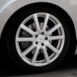 AUTEC Skandic Brillantsilber lackiert Felge mit Reifen in 19Zoll Winterfelge Alufelge auf silbernem Bentley Continental Flying Spur GT GTC ⬇️ mit 15mm Tieferlegung ⬇️ Industriehalle 1 Thumbnail