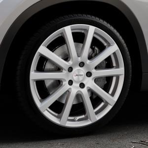 AUTEC Skandic Brillantsilber lackiert Felge mit Reifen in 19Zoll Winterfelge Alufelge auf silbernem BMW X1 Typ E84 (X1, X-N1, X1-N1) ⬇️ mit 15mm Tieferlegung ⬇️ Industriehalle 1 Thumbnail