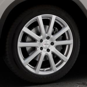 AUTEC Skandic Brillantsilber lackiert Felge mit Reifen in 19Zoll Winterfelge Alufelge auf silbernem BMW X3 Typ G01 (G3X) ⬇️ mit 15mm Tieferlegung ⬇️ Industriehalle 1 Thumbnail
