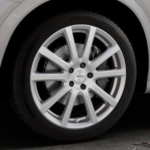 AUTEC Skandic Brillantsilber lackiert Felge mit Reifen in 19Zoll Winterfelge Alufelge auf silbernem BMW X4 Typ F26 (X3, X-N1) ⬇️ mit 15mm Tieferlegung ⬇️ Industriehalle 1 Thumbnail