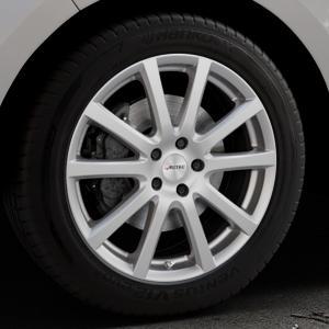 AUTEC Skandic Brillantsilber lackiert Felge mit Reifen in 19Zoll Winterfelge Alufelge auf silbernem Ford Edge Typ SBF ⬇️ mit 15mm Tieferlegung ⬇️ Industriehalle 1 Thumbnail