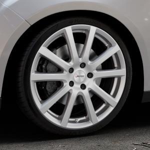 AUTEC Skandic Brillantsilber lackiert Felge mit Reifen in 19Zoll Winterfelge Alufelge auf silbernem Ford Focus III Typ DYB Facelift (Schrägheck) ⬇️ mit 15mm Tieferlegung ⬇️ Industriehalle 1 Thumbnail