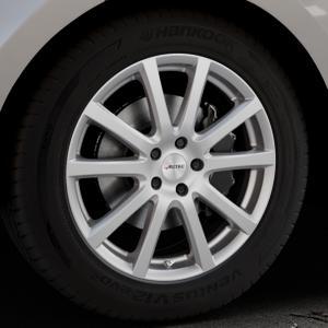 AUTEC Skandic Brillantsilber lackiert Felge mit Reifen in 19Zoll Winterfelge Alufelge auf silbernem Land Rover Range Velar Typ LY ⬇️ mit 15mm Tieferlegung ⬇️ Industriehalle 1 Thumbnail