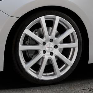 AUTEC Skandic Brillantsilber lackiert Felge mit Reifen in 19Zoll Winterfelge Alufelge auf silbernem Mazda 3 (13-) Stufenheck (BM) Sport (17-) Facelift Fließheck ⬇️ mit 15mm Tieferlegung ⬇️ Industriehalle 1 Thumbnail