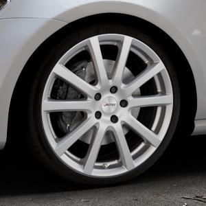 AUTEC Skandic Brillantsilber lackiert Felge mit Reifen in 19Zoll Winterfelge Alufelge auf silbernem Volkswagen (VW) Golf 7 ⬇️ mit 15mm Tieferlegung ⬇️ Industriehalle 1 Thumbnail