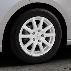 AUTEC Skandic ECE Brillantsilber lackiert Felge mit Reifen in 15Zoll Winterfelge Alufelge auf silbernem Seat Ibiza V Typ KJ ⬇️ mit 15mm Tieferlegung ⬇️ Industriehalle 1 Thumbnail