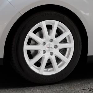 AUTEC Skandic ECE Brillantsilber lackiert Felge mit Reifen in 16Zoll Winterfelge Alufelge auf silbernem Ford C-Max II Typ DXA (10->) ⬇️ mit 15mm Tieferlegung ⬇️ Industriehalle 1 Thumbnail