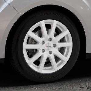 AUTEC Skandic ECE Brillantsilber lackiert Felge mit Reifen in 16Zoll Winterfelge Alufelge auf silbernem Ford Grand C-Max Typ DXA Facelift (15->) ⬇️ mit 15mm Tieferlegung ⬇️ Industriehalle 1 Thumbnail