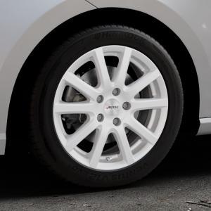 AUTEC Skandic ECE Brillantsilber lackiert Felge mit Reifen in 16Zoll Winterfelge Alufelge auf silbernem Seat Ibiza V Typ KJ ⬇️ mit 15mm Tieferlegung ⬇️ Industriehalle 1 Thumbnail