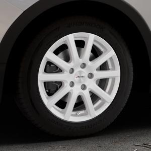AUTEC Skandic ECE Brillantsilber lackiert Felge mit Reifen in 16Zoll Winterfelge Alufelge auf silbernem Ssangyong Tivoli Typ XK ⬇️ mit 15mm Tieferlegung ⬇️ Industriehalle 1 Thumbnail