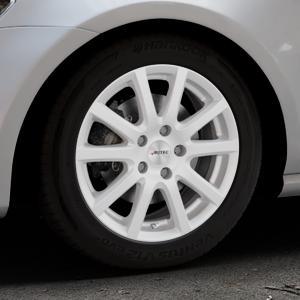 AUTEC Skandic ECE Brillantsilber lackiert Felge mit Reifen in 16Zoll Winterfelge Alufelge auf silbernem Volkswagen (VW) Golf 7 ⬇️ mit 15mm Tieferlegung ⬇️ Industriehalle 1 Thumbnail