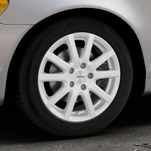 AUTEC Skandic ECE Brillantsilber lackiert Felge mit Reifen in 16Zoll Winterfelge Alufelge auf silbernem Volvo C70 II Cabriolet Typ M ⬇️ mit 15mm Tieferlegung ⬇️ Industriehalle 1 Thumbnail