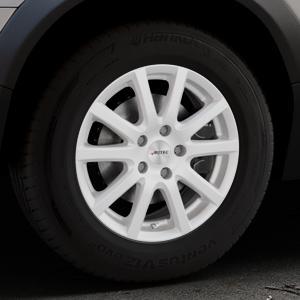 AUTEC Skandic ECE Brillantsilber lackiert Felge mit Reifen in 16Zoll Winterfelge Alufelge auf silbernem Volvo XC70 II Typ B ⬇️ mit 15mm Tieferlegung ⬇️ Industriehalle 1 Thumbnail