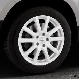 AUTEC Skandic ECE Brillantsilber lackiert Felge mit Reifen in 17Zoll Winterfelge Alufelge auf silbernem Dacia Duster Typ SD ⬇️ mit 15mm Tieferlegung ⬇️ Industriehalle 1 Thumbnail