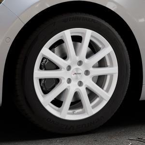 AUTEC Skandic ECE Brillantsilber lackiert Felge mit Reifen in 17Zoll Winterfelge Alufelge auf silbernem Renault Talisman Typ RFD ⬇️ mit 15mm Tieferlegung ⬇️ Industriehalle 1 Thumbnail